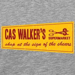 Heather grey Cas Walker Supermarket T-Shirts - Men's Premium T-Shirt