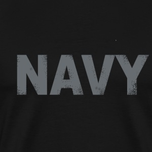 US Navy distressed logo Tee - Men's Premium T-Shirt