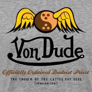 Design ~ Von Dude Flying Yin Yang Bowling Ball - Men's 3XL T-Shirt