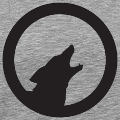 Heather grey howling_wolf T-Shirts