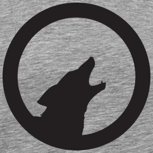 Heather grey howling_wolf T-Shirts - Men's Premium T-Shirt
