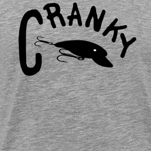 Heather grey CRANKY T-Shirts - Men's Premium T-Shirt