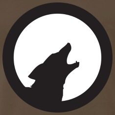 Chocolate wolf howling T-Shirts
