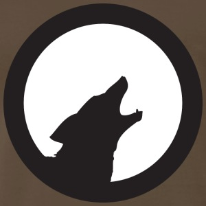 Chocolate wolf howling T-Shirts - Men's Premium T-Shirt