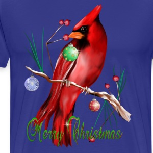 Merry Christmas Cardinal - Men's Premium T-Shirt