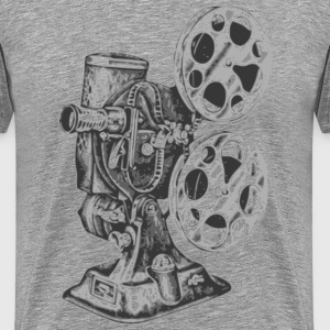 Heather grey camera futura T-Shirts - Men's Premium T-Shirt