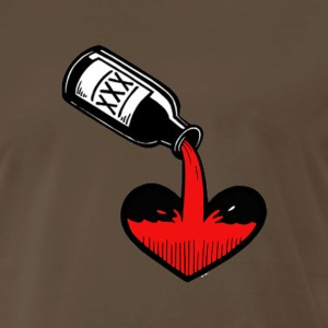 Alcoholic Heart - Men's Premium T-Shirt