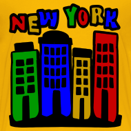 Design ~ KKT 'New York Multi-Color, 4 Brownstones' Kids' Tee