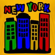 Design ~ KKT 'New York Multi-Color, 4 Brownstones' Kids' Tee