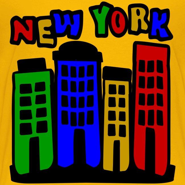 KKT 'New York Multi-Color, 4 Brownstones' Kids' Tee