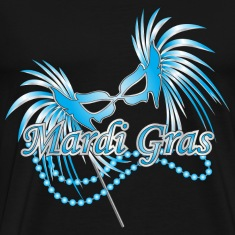 Black Blue Mardi Gras Mask T-Shirts