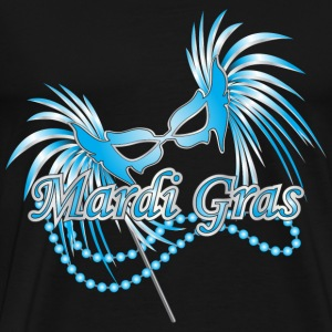 Black Blue Mardi Gras Mask T-Shirts - Men's Premium T-Shirt
