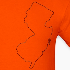 Orange New Jersey outline T-Shirts