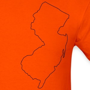 Orange New Jersey outline T-Shirts - Men's T-Shirt