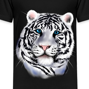 White Tiger Face - Toddler Premium T-Shirt