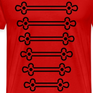 Red Marching Stripes T-Shirts - Men's Premium T-Shirt
