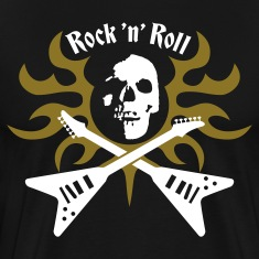 Black rock_and_roll T-Shirts
