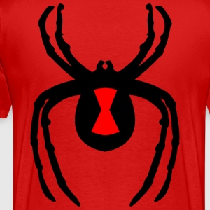 black widow on back - Men's Premium T-Shirt
