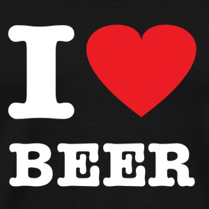 Black I Love Beer T-Shirts - Men's Premium T-Shirt