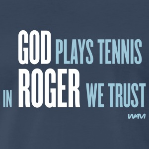 Navy GOD plays tennis T-Shirts - Men's Premium T-Shirt