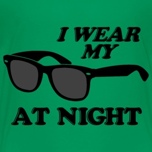 Kelly green Wear Sunglasses Night Kids' Shirts - Kids' Premium T-Shirt