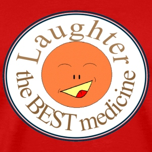 Red laughter_best_medicine T-Shirts - Men's Premium T-Shirt
