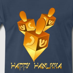 Happy Hanukkah Dreidels - Men's Premium T-Shirt