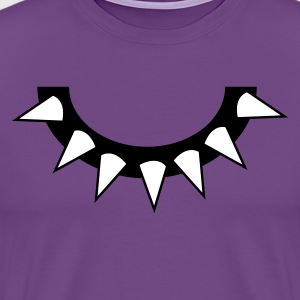 Purple spikey dog collar T-Shirts - Men's Premium T-Shirt