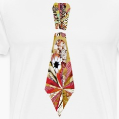 White Collage Art Necktie T-Shirts