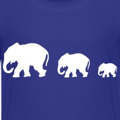 Royal blue elephants Kids' Shirts