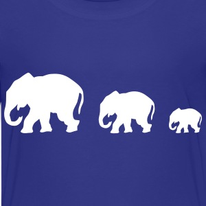 Royal blue elephants Kids' Shirts - Kids' Premium T-Shirt