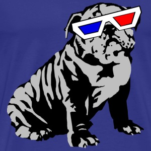 3D bulldog - Men's Premium T-Shirt