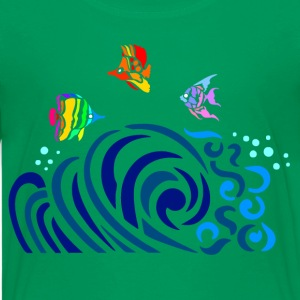 Kelly green Rainbow Fish (dark shirts) Kids' Shirts - Kids' Premium T-Shirt