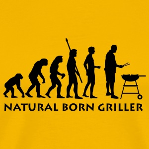 Gold natural_born_griller T-Shirts - Men's Premium T-Shirt
