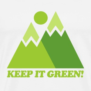 White Mountain Keep It Green T-Shirts - Men's Premium T-Shirt