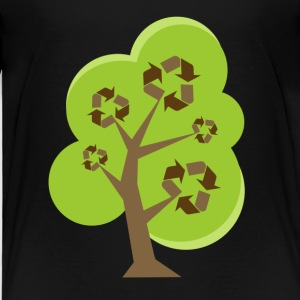 Black Recycle Tree Green Toddler Shirts - Toddler Premium T-Shirt
