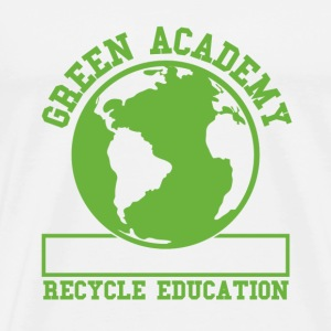 White Green Recycling Academy  T-Shirts - Men's Premium T-Shirt