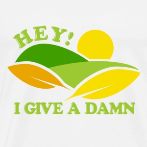 White Recycle Give a Damn  T-Shirts - Men's Premium T-Shirt