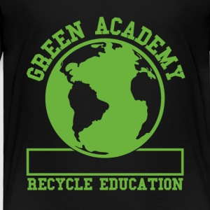 Black Green Recycling Academy  Toddler Shirts - Toddler Premium T-Shirt