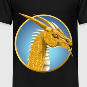 Gold Dragon Face - Toddler Premium T-Shirt
