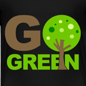 Black Go Green Tree  Toddler Shirts - Toddler Premium T-Shirt