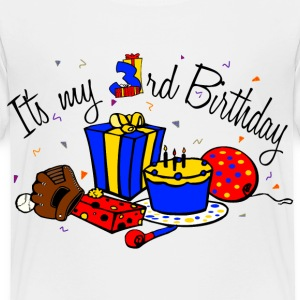 White Its my 3rd Birthday-boy Toddler Shirts - Toddler Premium T-Shirt