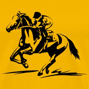 Horse Racing Sport T-Shirt - Men's Premium T-Shirt