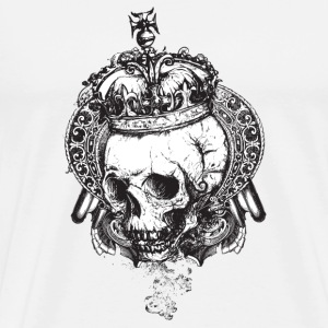 Grunge skull and crown - Men's Premium T-Shirt