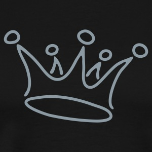 Black crown_black T-Shirts - Men's Premium T-Shirt