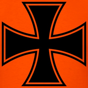 Orange iron cross T-Shirts - Men's T-Shirt