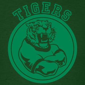 Forest green Tigers Mascot Graphic T-Shirts - Men's T-Shirt