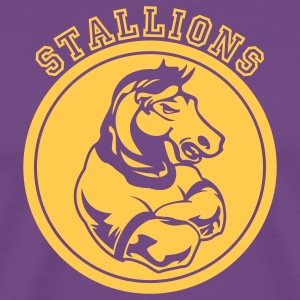 Purple Stallions or Stallion Team Graphic T-Shirts - Men's Premium T-Shirt