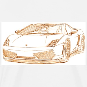 White lambo_gallrdo_lp_550 T-Shirts - Men's Premium T-Shirt