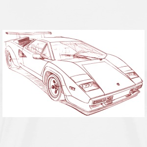 White lambo_countch T-Shirts - Men's Premium T-Shirt